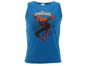 CANOTTA-SPIDERMAN-MARVEL-RAGNATELA-BAMBINO-BLUE-ROYAL-CANOTTIERA-SENZA-MANICHE-292052572660