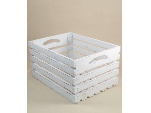 Stock 3 cassette in legno bianco cassetta in legno shabby for Ikea cassette legno