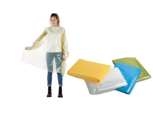 100-PONCHO-IMPERMEABILE-in-PVC-con-cappuccio-Colori-assortiti-taglia-UNICA-301749481441