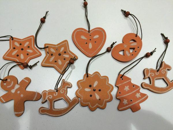 Formine in legno addobbi di natale decorazioni albero di - Decorazioni in legno per natale ...