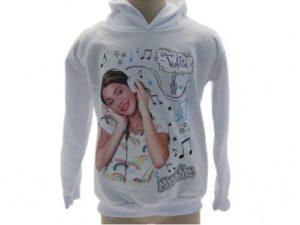 Abbigliamento-Violetta-felpa-bianca-Violetta-abbigliamento-Disney-trendy-moda-300963439062