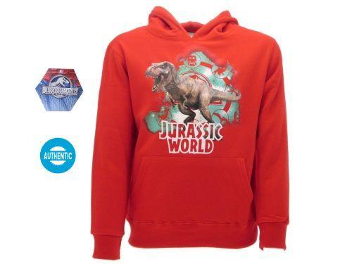 Felpa-Jurassic-World-rossa-originale-con-cartellino-da-negozio-modello-new-2017-302053768792