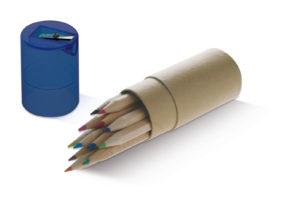 12-matite-pastelli-astuccio-e-temperino-regalino-feste-bambini-passatempo-291735783743