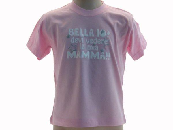 T-SHIRT-BELLA-IODEVI-VEDERE-LA-MIA-MAMMA-BAMBINO-SCRITTE-FUCSIA-VAAJCUNN3EW-292052572663
