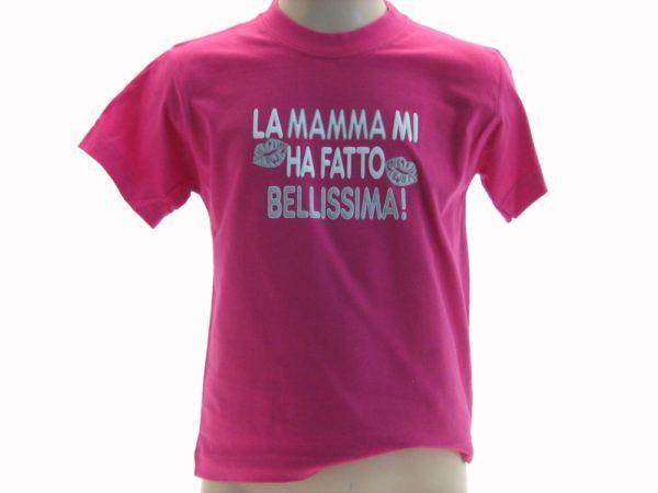 T-SHIRT-LA-MAMMA-MI-HA-FATTO-BELLISSIMA-BAMBINO-UMORISTICHE-ROSA-VANGEAE3QT-302249847893