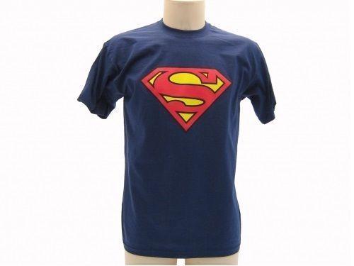 T-SHIRT-MAGLIETTA-SUPERMAN-BLU-NAVY-ORIGINALE-UNISEX-SUPERMAN-291722944983