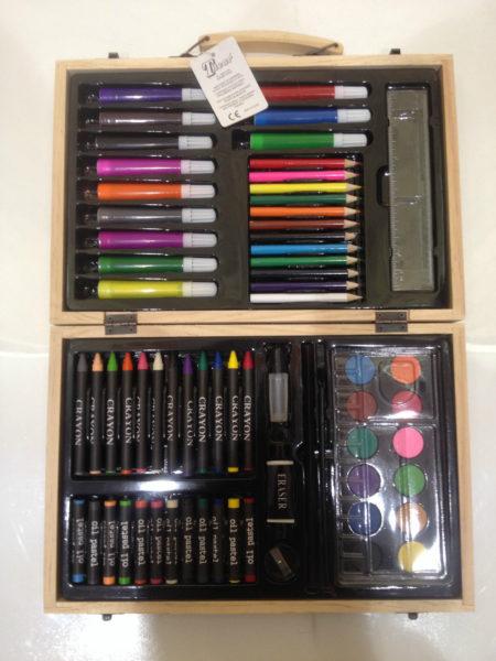 Arte-disegno-scatola-in-legno-colori-pastelli-disegno-scatola-pastelli-arte-291330469274