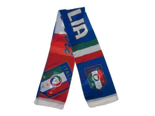 SCIARPA-UFFICIALE-ITALIA-FIGC-POLYESTER-DONNA-UOMO-BAMBINO-TIFOSI-CALCIO-STADIO-292053155284