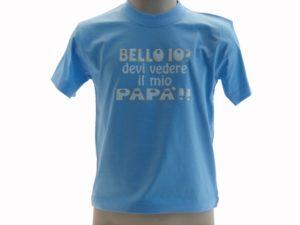 T-SHIRT-BELLO-IO-DEVI-VEDERE-IL-MIO-PAP-BAMBINO-BLUE-ROYAL-VAAJCUNO3AQ-292052572664