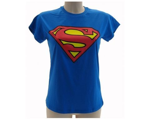 T-SHIRT-SUPERMAN-MODELLO-DONNA-RAGAZZA-LADY-SUPERMAN-MODA-2017-SUPERLADY-TOP-301912636024