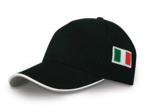 CAPPELLO-nero-con-bandiera-italia-ricamata-in-rilievo-cappello-italia-301555011155