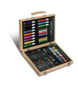 KIT-da-disegno-in-legno-pastelli-pennarelli-acqurelli-SCUOLE-D-ARTE-DISEGNI-301965530325