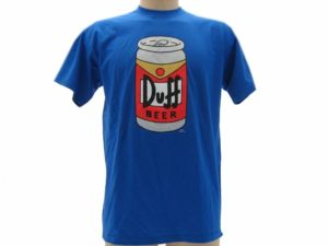 T-SHIRT-SIMPSONS-LATTINA-UOMO-DUFF-BLUE-ROYAL-TSHIRT-MAGLIA-MAGLIETTA-ORIGINALE-302249259765