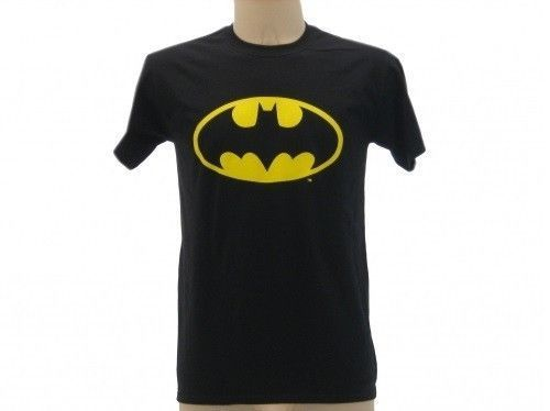 MAGLIETTA-BATMAN-T-SHIRT-BATMAN-ORIGINALE-WARNER-BROS-NERA-PER-ADULTI-E-BIMBI-291720403066