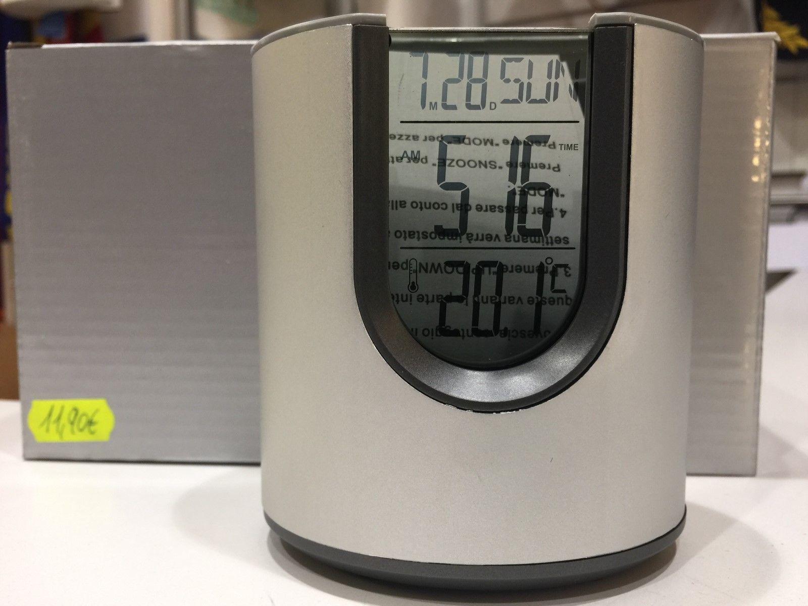 Porta penne digitale con orologio sveglia temperatura porta penne da tavolo fiori a righe utility - Orologio da tavolo digitale ...