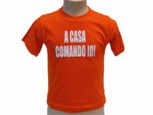 T-SHIRT-A-CASA-COMANDO-IO-BAMBINO-COLOR-BABY-SCRITTE-UMORISTICHE-ROSA-MAGLIETTA-292052572666