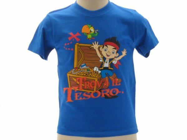 T-SHIRT-JAKE-E-I-PIRATI-DELLISOLA-CHE-NON-C-TESORO-BAMBINO-DISNEY-BLUE-ROYAL-302249833376
