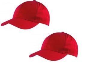 stock-10-cappelli-rossi-adulti-regolazione-con-velcro-cappellino-baseball-cap-302234885306