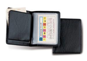 PORTA-Bancomat-Carte-di-Credito-Tessere-in-PVC-nero-moda-uomo-301636913289
