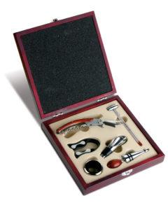 Scatola-da-Vino-6-pezzi-in-legno-per-amanti-del-vino-e-sommelier-gadget-aziende-301148966209