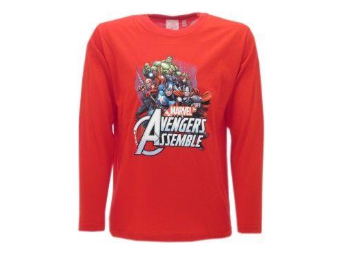 Rossa Avengers Super Maglia Maglietta Shirt T Eroi nPkOw08