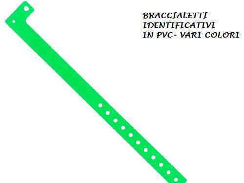 nuovo stile 78f96 5b9b7 STOCK 100 BRACCIALETTI IDENTIFICATIVI IN PVC BRACCIALETTI DISCOTECHE EVENTI